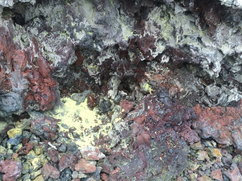 Sulfur from volcanic soil